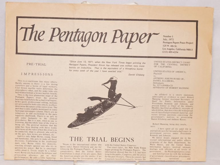 The Pentagon paper. No. 1 (July, 1972)