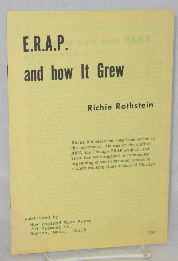 E.R.A.P. and how it grew. Richie Rothstein.
