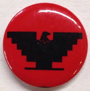 [United Farm Workers eagle pinback button]