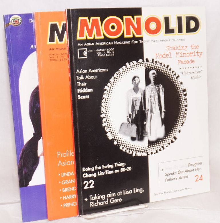 Monolid: An Asian American magazine for those who aren't blinking. [Vol. 1 nos. 1, 2, 3]