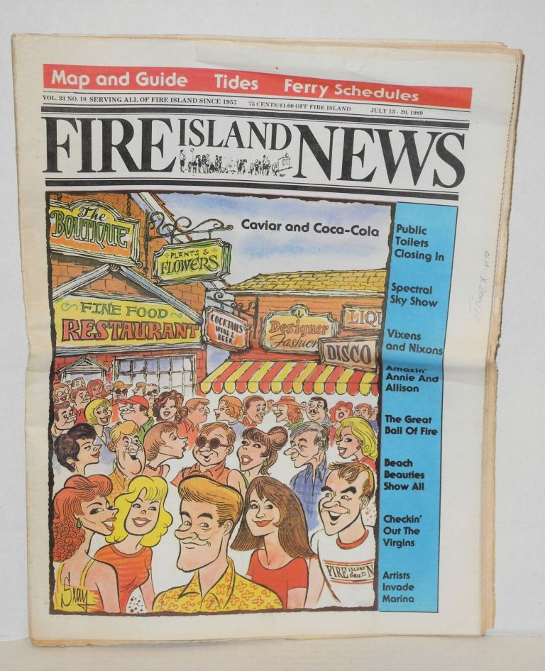 Fire Island news: vol. 33, no. 10, Ocean Beach, NY, July 13-20, 1989