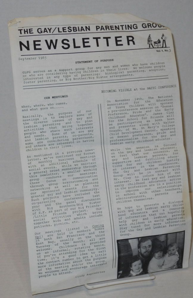 The Lesbian/Gay Parenting Group newsletter: vol. 1, no. 3, September 1985