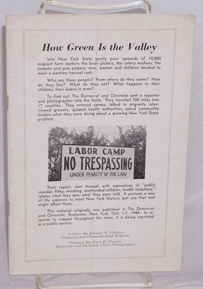 How green is the valley. Articles by Emmet N. O'Brien, pictures by Fred R. Powers. Emmet N. O'Brien, Fred R. Powers.
