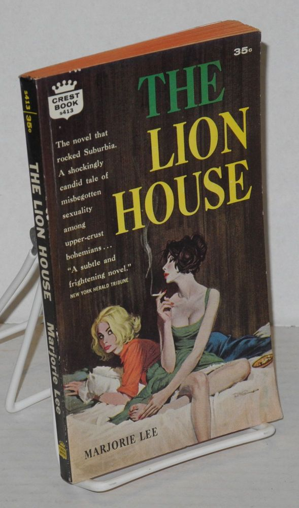 The lion house. Marjorie Lee, cover, Robert McGinnis.
