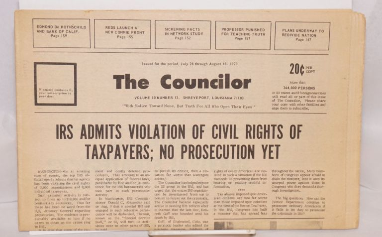 The Councilor. Vol. 10 no. 12 (July 28, 1973)