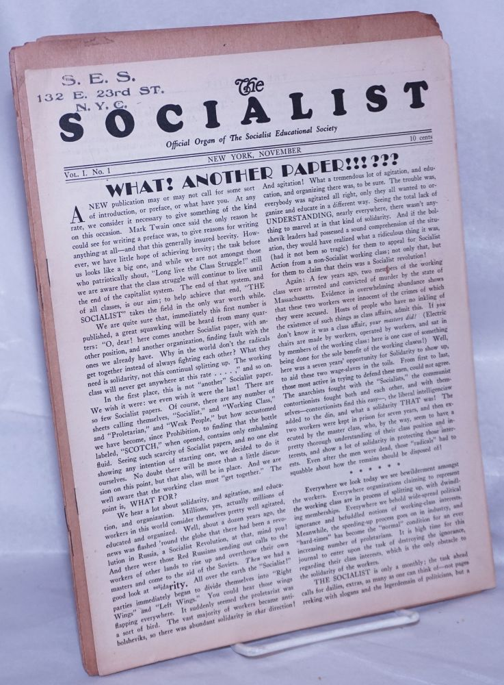 The Socialist [eight issues]