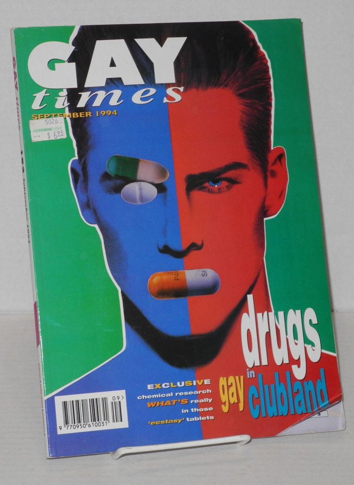 Gay times: Britain's Britain's national gay magazine incorporating Gay News; issue 192, September 1994. John Marshall.