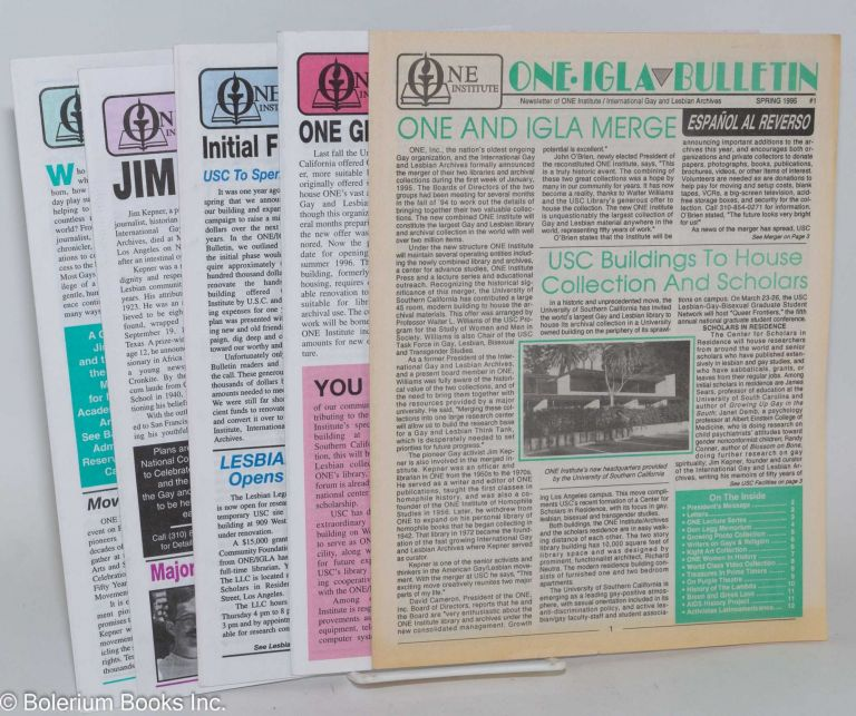 One IGLA bulletin issue 1-5, Spring 1995 - Summer 1998 [5 issue run]