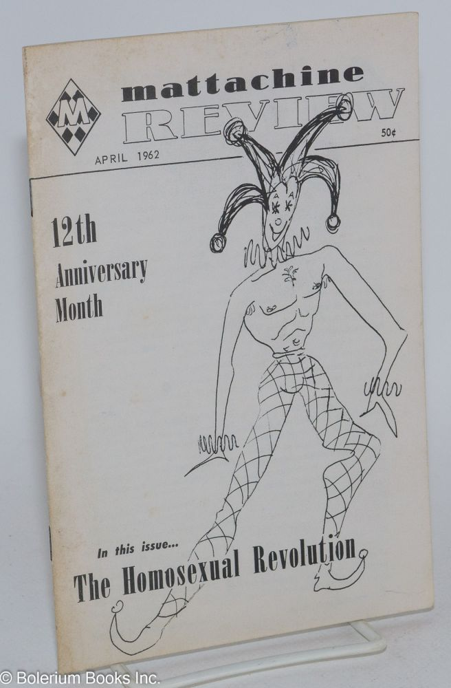 Mattachine review: vol. 8, #4, April 1962. Harold Call.