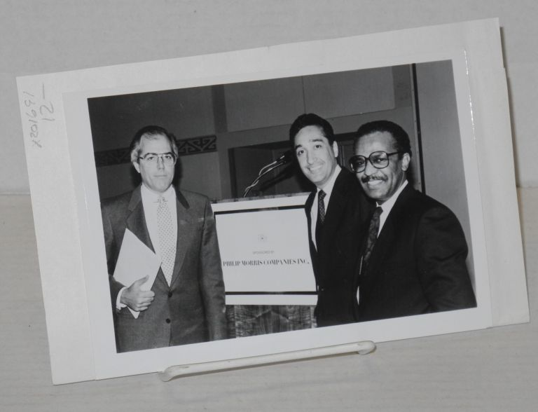 Publicity photo of Henry Cisneros, Reese Stone, and Manuel Galván. Henry Cisneros, Reese Stone, Manuel Galván.