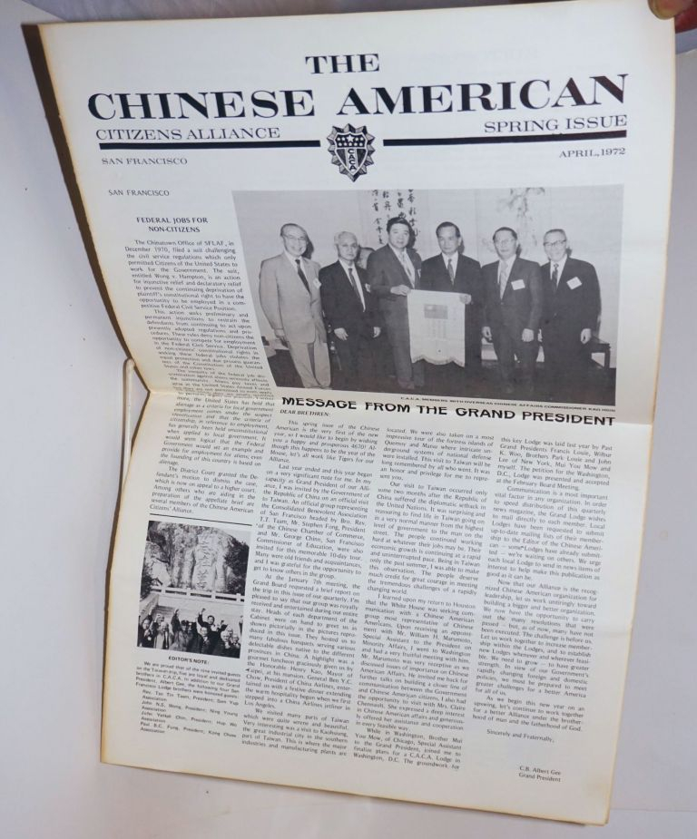 Chinese American Citizens Alliance. April, 1972