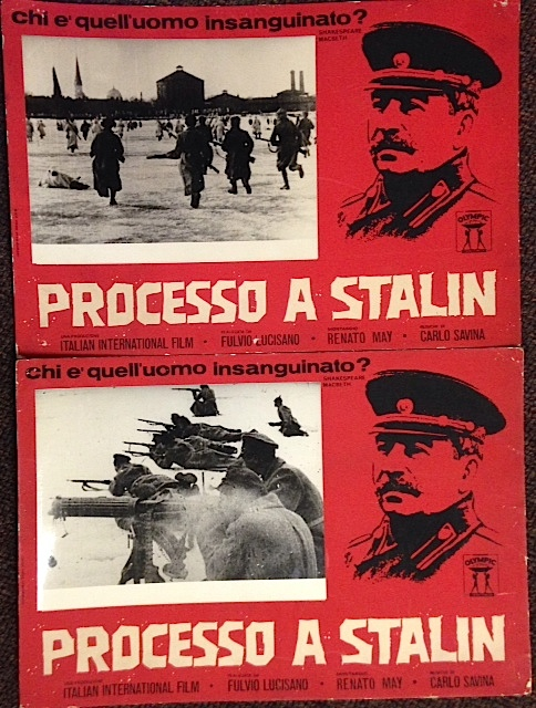 Processo a Stalin [two advertising placards for the film]
