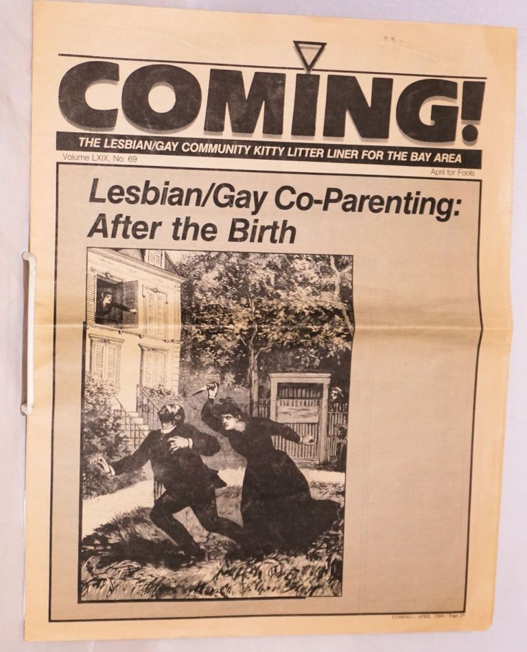 Coming! The Lesbian/Gay community kitty litter liner for the Bay Area. Vol. 69, no. 69. April for Fools