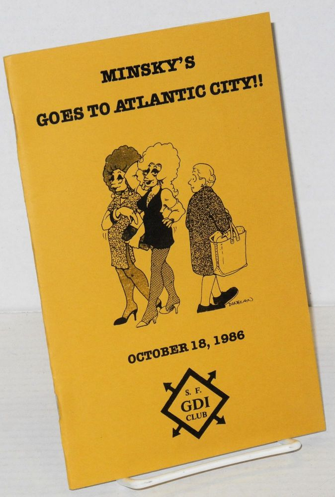Minsky's goes to Atlantic City! program for the 13th annual A Date at Minsky's, October 18, 1986