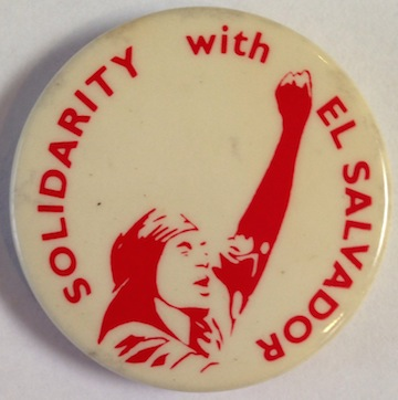 Solidarity with El Salvador [pinback button]