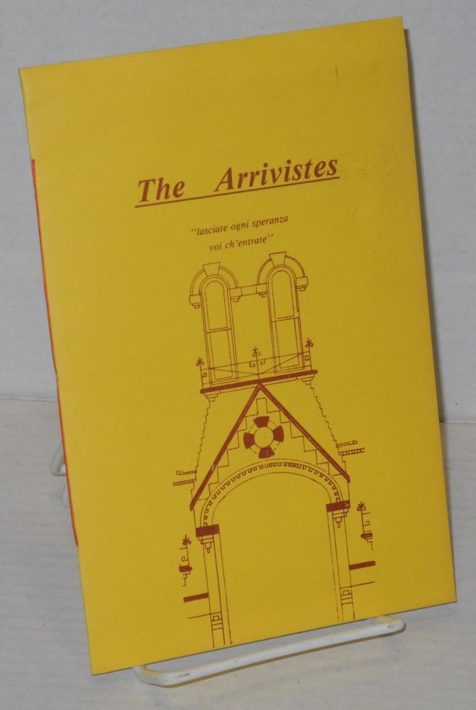 The arrivistes a Interim Book Broadside number five. Kirby Congdon.