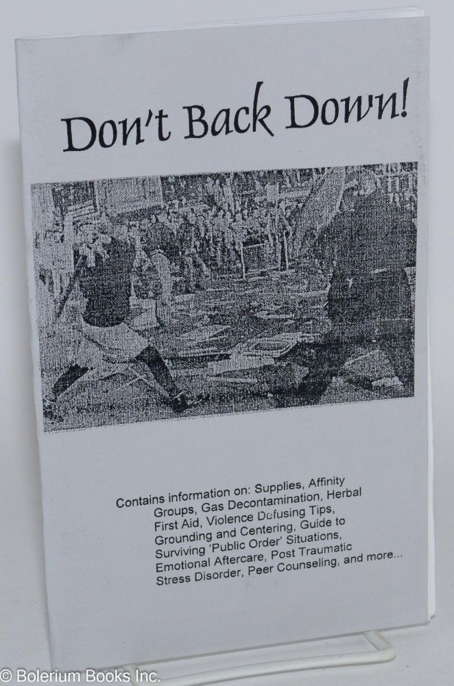 Don't back down!