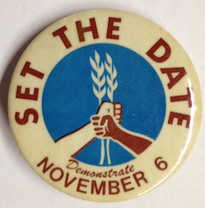 Set the date / Demonstrate November 6 [pinback button]