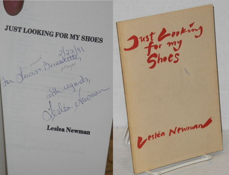Just looking for my shoes. Lesléa Newman.