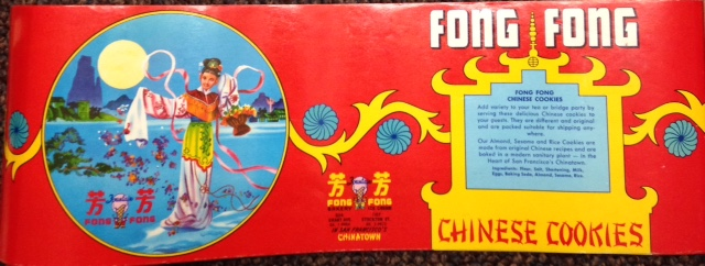 Fong Fong Chinese Cookies [label for cookie tin