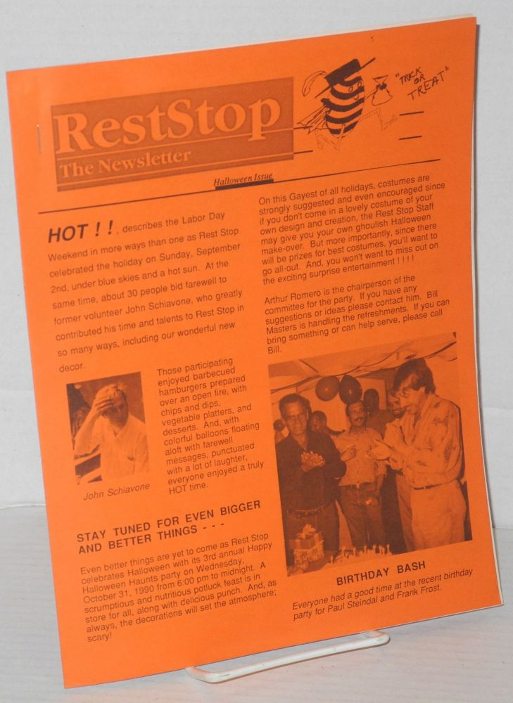 Rest stop: the newsletter; October 1990 Halloween Issue. Michael LaBrie, , Paul Steindal, Sharon Siskin, Arthur Romero.