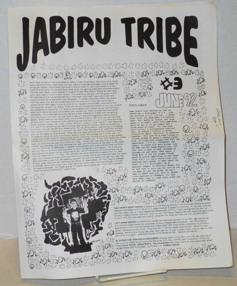 Jabiru Tribe: the alternative paper in your town and up your street: #3 June '92