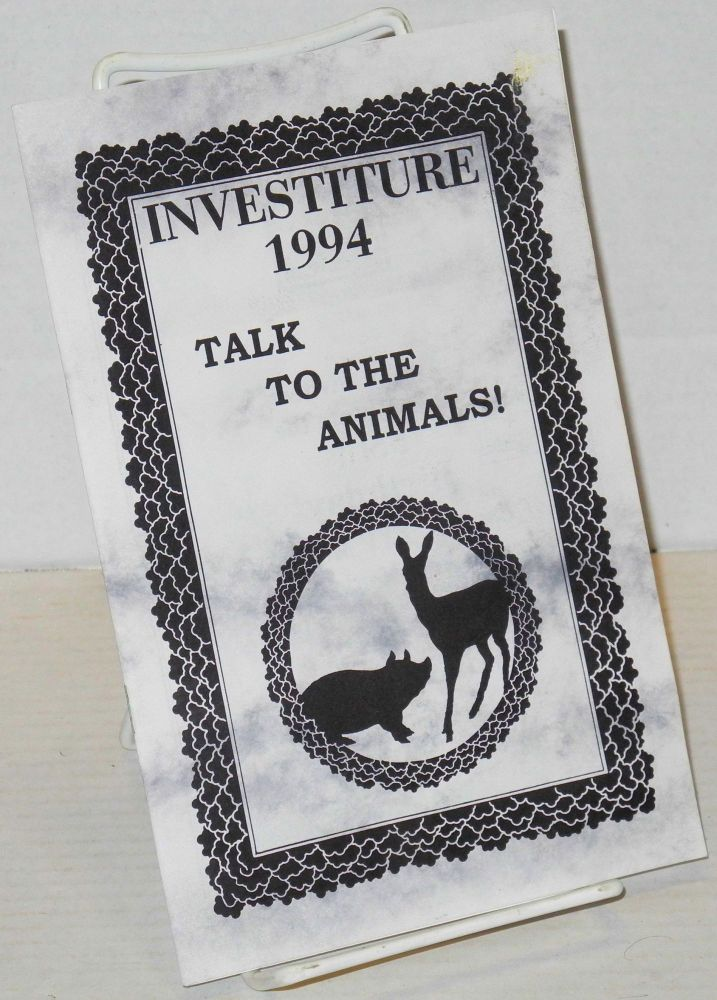 Investiture 1994: talk to the animals!