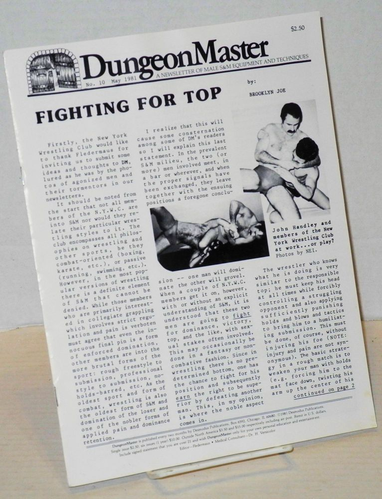 DungeonMaster: a newsletter of male S&M equipment and techniques # 10 May 1981. Anthony F. DeBlase.
