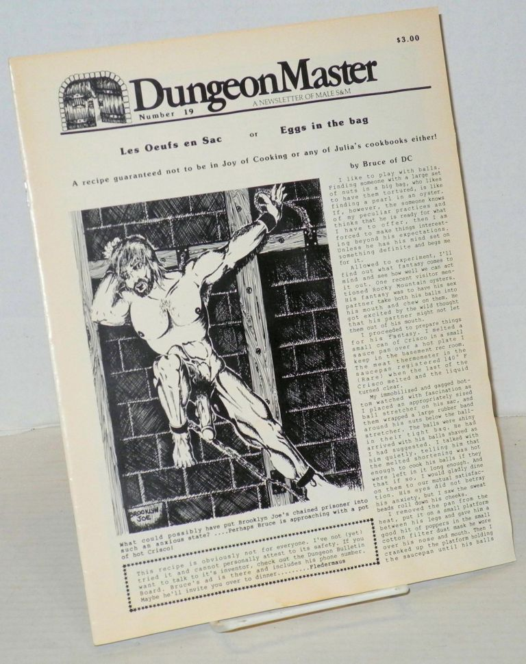 DungeonMaster: a newsletter of male S&M # 19 April 1983; Les Oufs en Sac or Eggs in the Bag. Anthony F. DeBlase, , Bruce of DC, Brooklyn Joe.