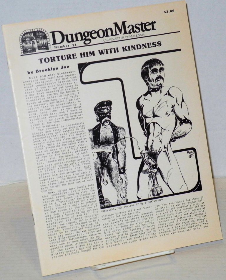 DungeonMaster: a newsletter of male S&M # 21 August 1983. Anthony F. DeBlase.