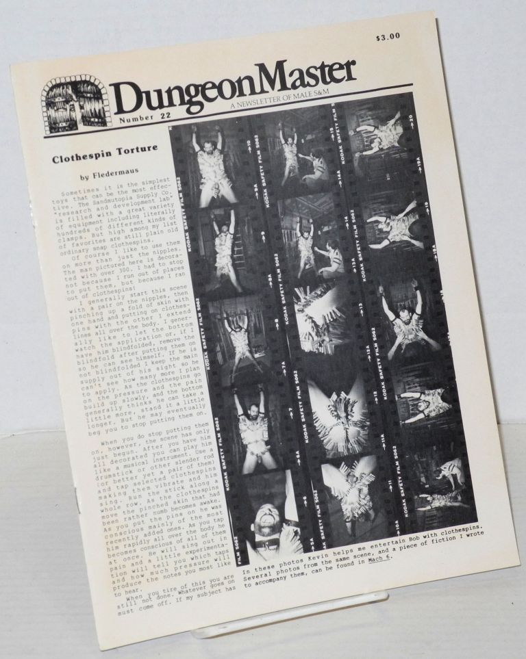 DungeonMaster: a newsletter of male S&M # 22 November 1983. Anthony F. DeBlase.