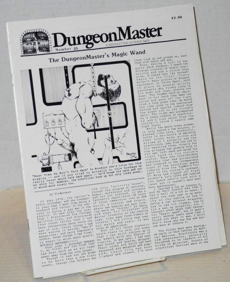 DungeonMaster: a newsletter of male S&M # 25 May 1984. Anthony F. DeBlase.