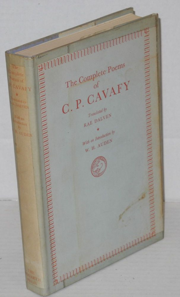 The complete poems of Cavafy. Cavafy, Rae Dalven, W. H. Auden.
