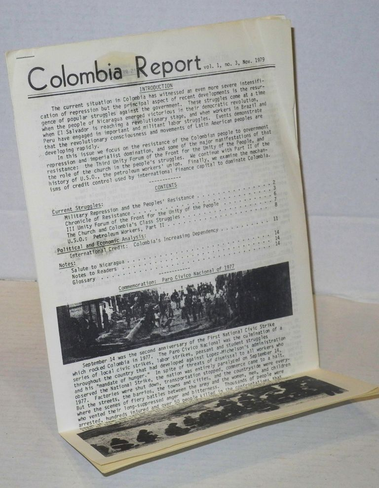 Colombia report: vol. 1, #3, Nov. 1979