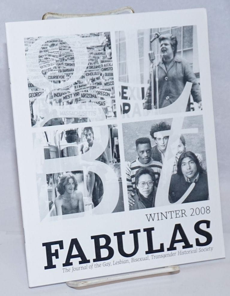 Fabulas: the journal of the Gay, Lesbian, Bisexual, Transgender Historical Society; Winter 2008