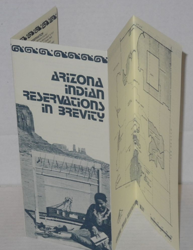 Arizona Indian Reservations in brevity [brochure]
