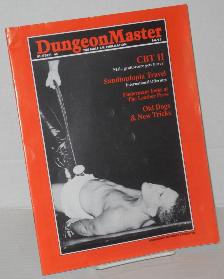 DungeonMaster: the male sm publication; # 45. Anthony F. DeBlase.