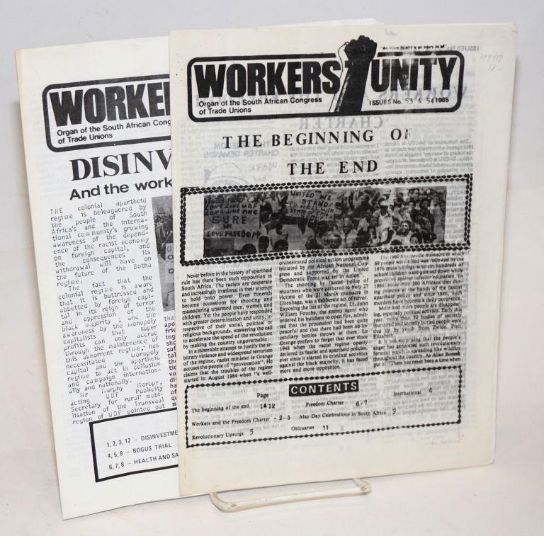 Workers' Unity [two issues]