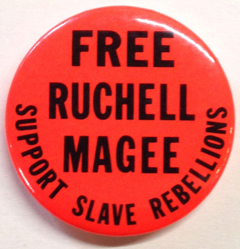 Free Ruchell Magee / Support Slave Rebellions [pinback button]. Ruchell Magee.