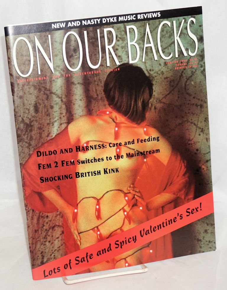 On Our Backs: entertainment for the adventurous lesbian; vol. 10, #3, Jan/Feb 1994: Shocking British Kink! Heather Findley, , Fanny Fatale, Annie Sprinkle.