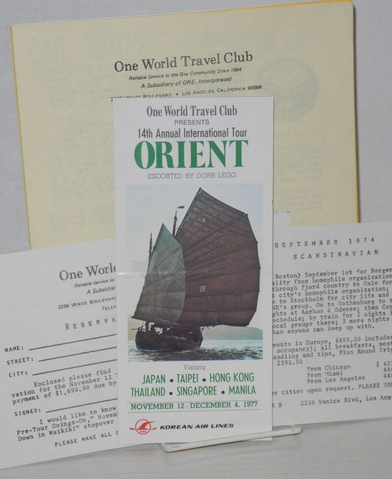 One World Travel Club materials. Inc One.