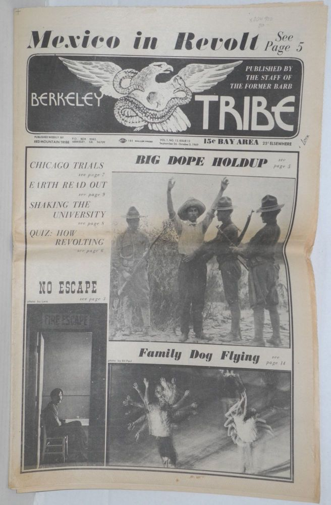 Berkeley Tribe: Vol. 1, No. 12 (#12), Sept 26-Oct 3, 1969. Red Mountain Tribe.