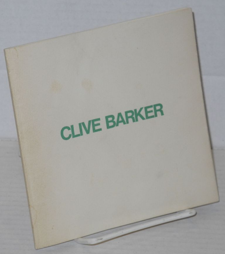 Clive Barker: heads and chariots; 1 to 26 July 1974, Monday to Friday 10 to 5:30 pm. Clive Barker, not the horror writer, Roland Penrose.