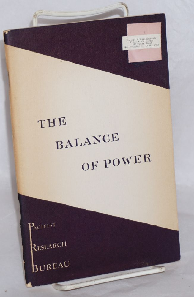 The balance of power. Edward Vose Gulick.