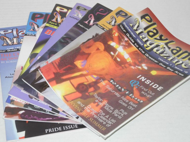 Playland magazine: your guide to the greater Gay Bay Area; vol. 1, #2 & 6-11 [seven issue broken run]. Matthew Consola, , /publisher.