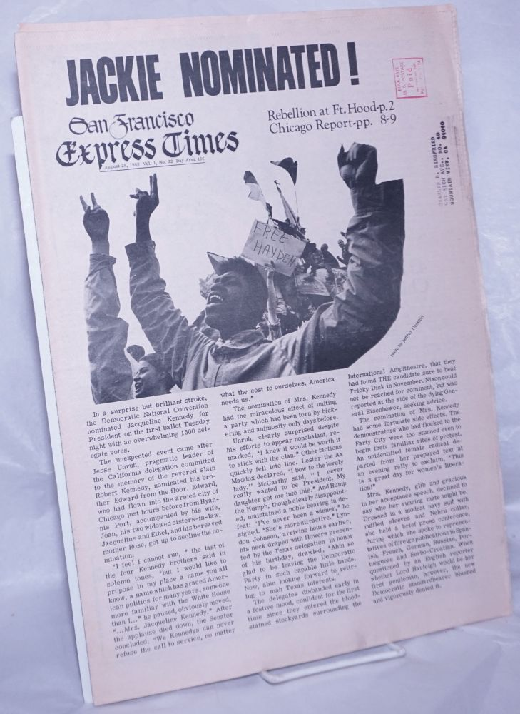 San Francisco Express Times, Vol.1, No.32, August 28, 1968. Marvin Garson.