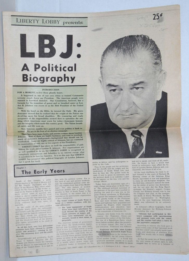 LBJ: A Political Biography second edition. Liberty Lobby.