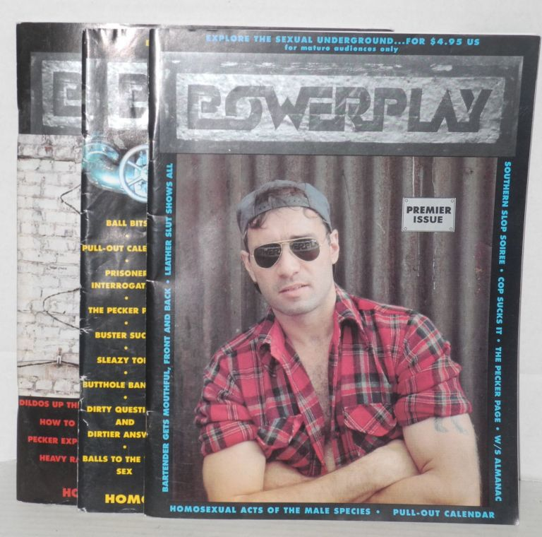 Powerplay: homosexual acts of the male species; vol. 1, issues 1-3. Richard H. Bulger, , Scott Baker, Bruce Lee, Domino, Tom carr, Bill Manley, Furr, Jack Fertig.