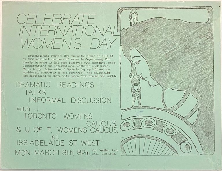 Celebrate International Women's Day [handbill]