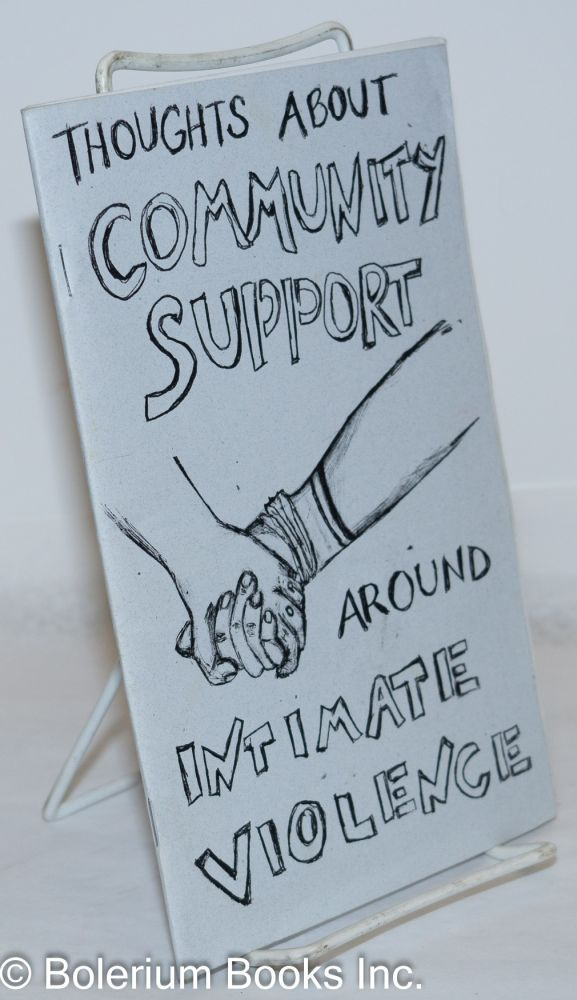 Thoughts about community support around intimate violence
